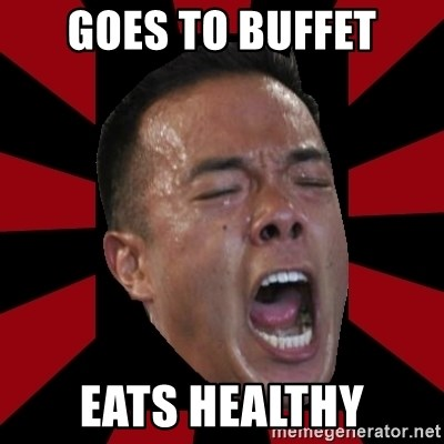 angryCoach - goes to buffet eats healthy