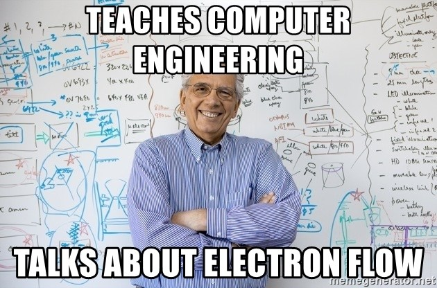 Engineering Professor - teaches computer engineering talks about electron flow