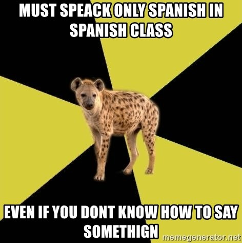 Now and To Say Spanish How Hyena In casing you certainly