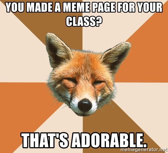 Condescending Fox - You made a meme page for your class? that's adorable.