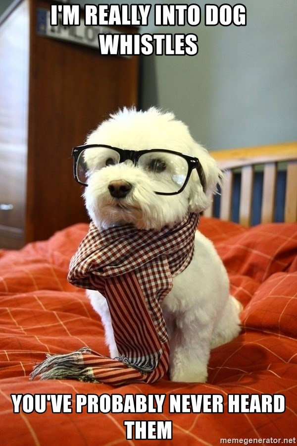 hipster dog - I'm really into dog whistles You've probably never heard them