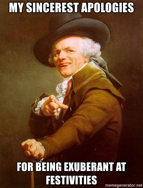 Joseph Ducreux - My sincerest apologies For being exuberant aT festivities