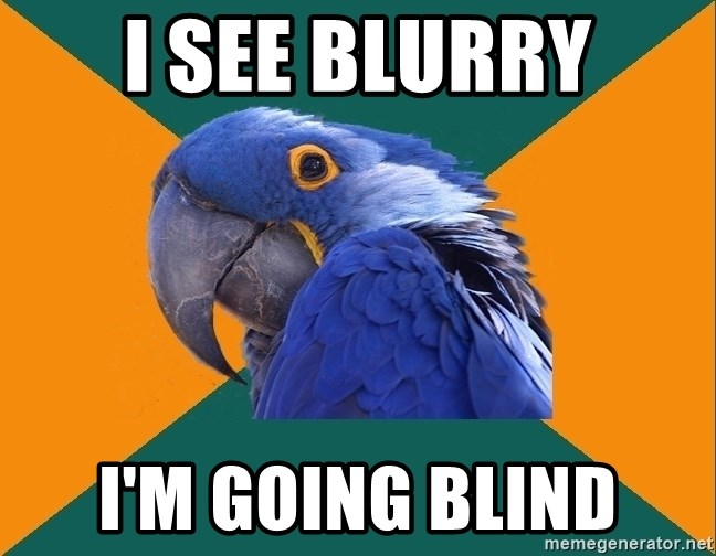 Paranoid Parrot - i see blurry i'm going blind