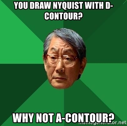 High Expectations Asian Father - You draw nyquist with d-contour? Why not A-contour?