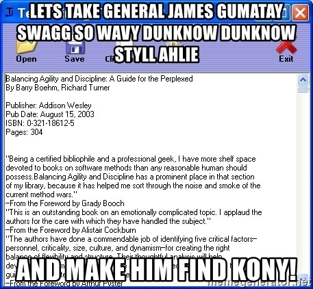 lets take general james gumatay swagg so wavy dunknow dunknow styll