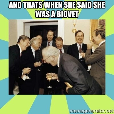 reagan white house laughing - And thats when she said she was a biovet