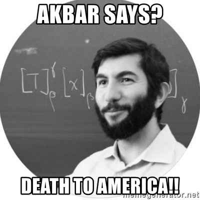More Homework Mintchev - Akbar says? Death to america!!