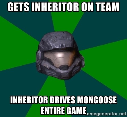 Halo Reach - Gets Inheritor on Team Inheritor Drives Mongoose Entire Game