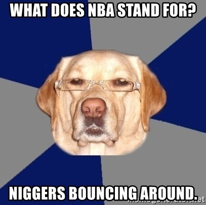 Racist Dawg - What does nba stand for? niggers bouncing around.