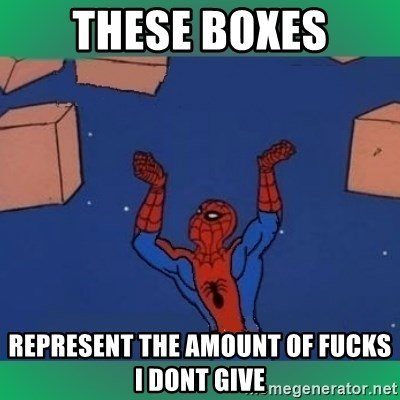60's spiderman - These boxes represent the amount of fucks i dont give
