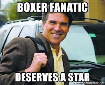 Rick Perry - boxer fanatic deserves a star