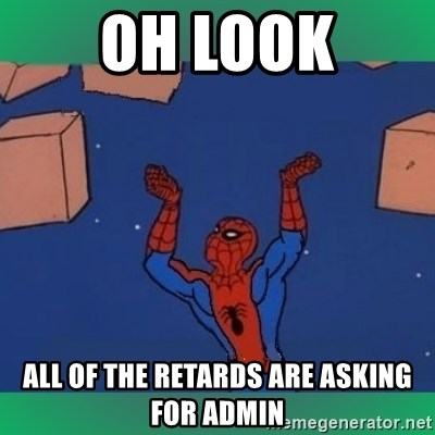 60's spiderman - OH look all of the retards are asking for admin