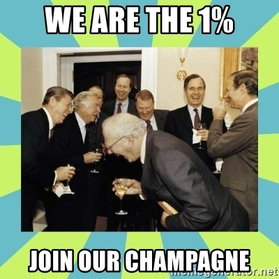 reagan white house laughing - We are The 1% Join our Champagne