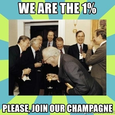 reagan white house laughing - We Are the 1% Please, Join Our Champagne