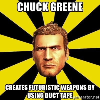 Chuck Greene - Chuck greene creates futuristic weapons by using duct tape