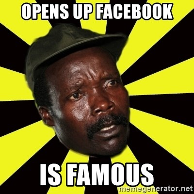 KONY THE PIMP - opens up facebook is famous