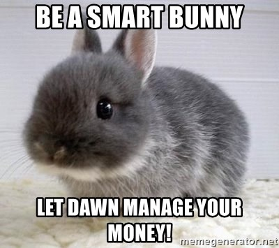 ADHD Bunny - Be a smart bunny let dawn manage your money!