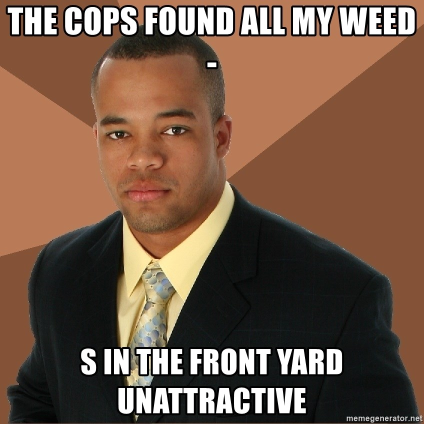 Successful Black Man - The cops found all my weed- s in the front yard unattractive