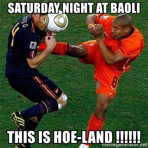 Netherlands - saturday night at baoli THIS is Hoe-land !!!!!!