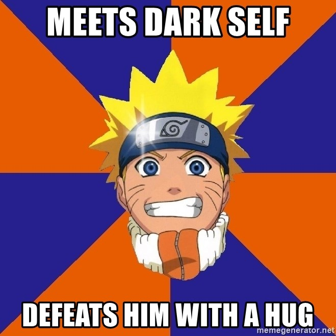 Oh Naruto - Meets dark self defeats him with a hug