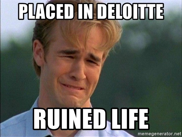 Crying Man - PLACED IN DELOItte RUINEd LIFE