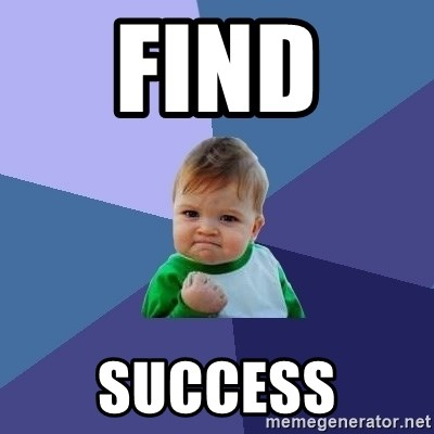 Success Kid - find  success