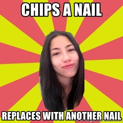 Just Johanna - chips a nail replaces with another nail