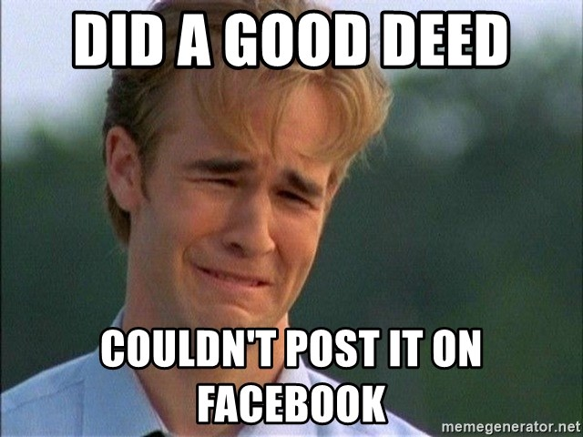 Crying Man - Did a good Deed  Couldn't post it on facebook