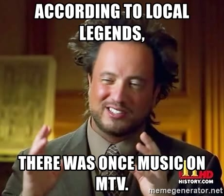 Giorgio A Tsoukalos Hair - according to local legends,  there was once MUsic on MTV.