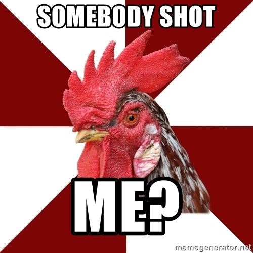 Roleplaying Rooster - Somebody shot  Me?