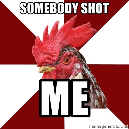 Roleplaying Rooster - Somebody shot Me