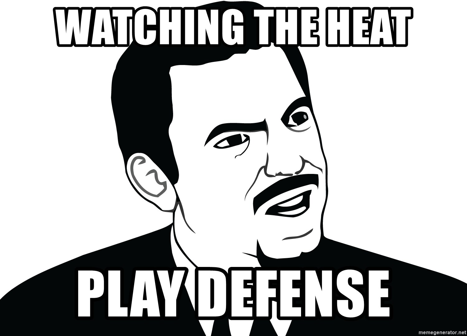 Are you serious face  - WATCHING THE HEAT PLAY DEFENSE