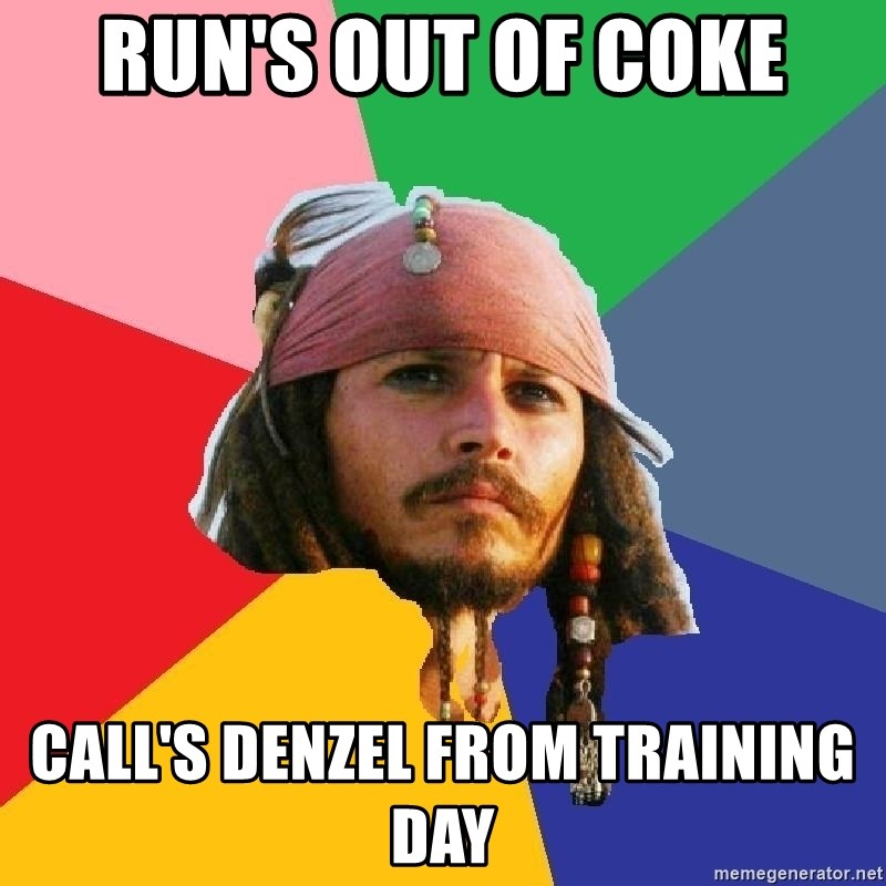 Do Drugs Depp - Run's out of coke call's denzel from training day