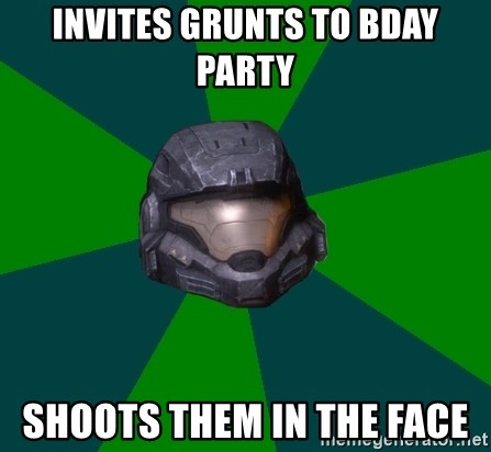 Halo Reach - Invites grunts to bday party shoots them in the face