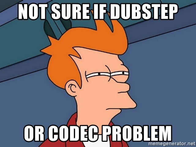 Futurama Fry - not sure if dubstep or codec problem