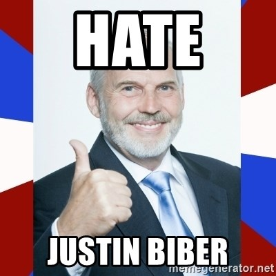 Idiot Anti-Communist Guy - Hate  Justin biber