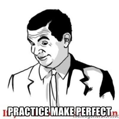 Mr.Bean - If you know what I mean - practice make perfect