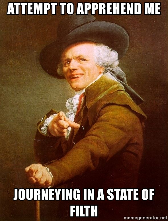 Joseph Ducreux - Attempt to apprehend me  Journeying in a state of filth