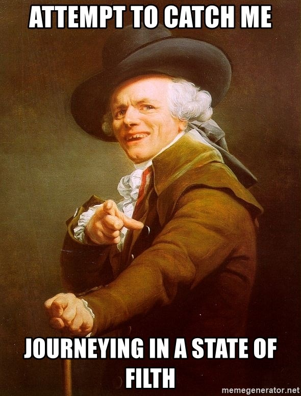 Joseph Ducreux - Attempt to catch me Journeying in a state of filth