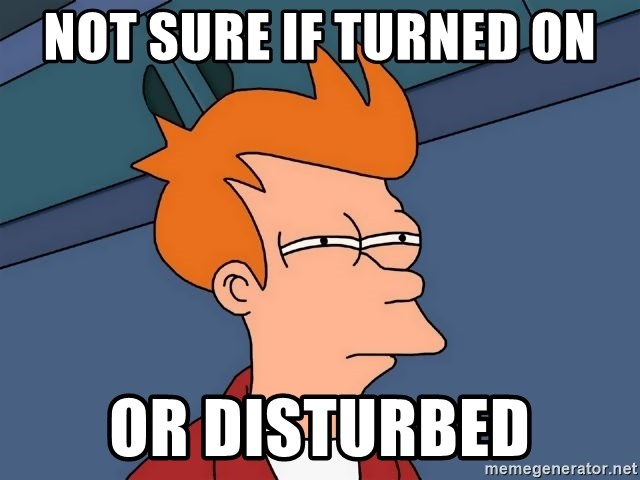 Futurama Fry - NOT SURE IF TURNED ON OR DISTURBED