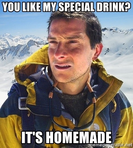 Bear Grylls Loneliness - you like my special drink? it's homemade