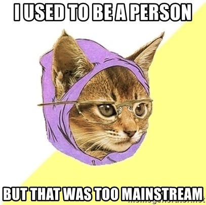 Hipster Kitty - i used to be a person but that was too mainstream