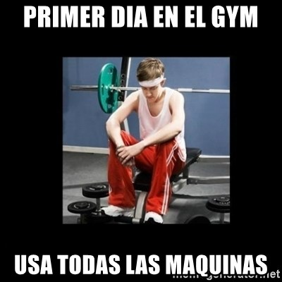 Annoying Gym Newbie - primer dia en el gym usa todas las maquinas