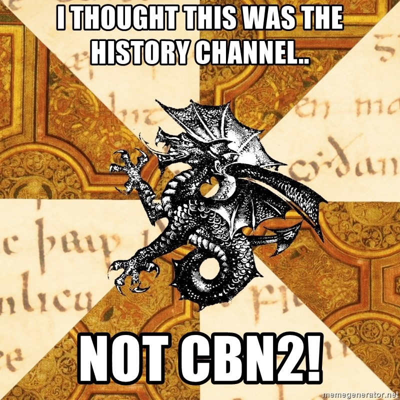 History Major Heraldic Beast - I thought This was the History channel..  Not CBN2!