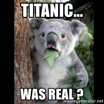 Koala can't believe it - Titanic... was real ?