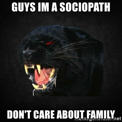 Roleplay Panther - guys im a sociopath don't care about family