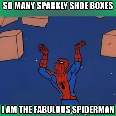 60's spiderman - So many sparkly shoe boxes I am the fabulous spiderman