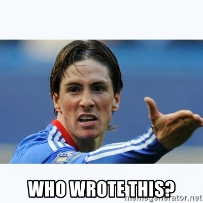 Fernando Torres - WHO WROTE THIS?