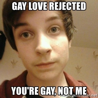 Hypocritical Homo Jamie - Gay love rejected You'Re gay, not me