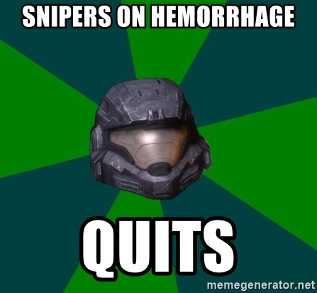 Halo Reach - snipers on hemorrhage quits